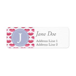 Pink Lips Pattern Label