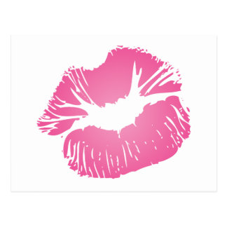 Pink LIps Postcard