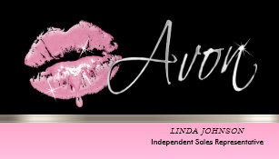 Avon business cards zazzle pink lipstick and silver avon business card colourmoves
