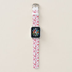 Pink Lipstick Lipsense Apple Watch Band at Zazzle