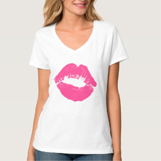 Pink Lipstick Smudge T-Shirt