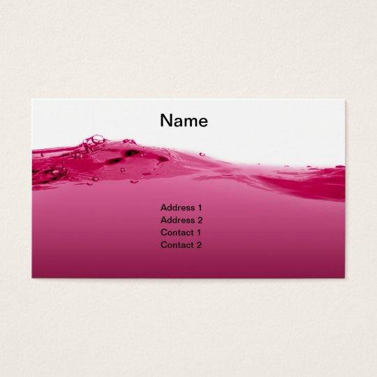 Pink liquid wave business card