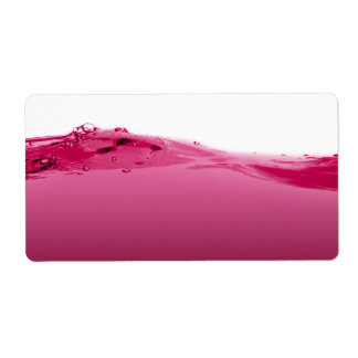 Pink liquid wave label