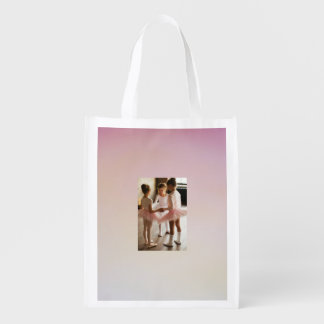 pink little ballerina recycling bag grocery bag