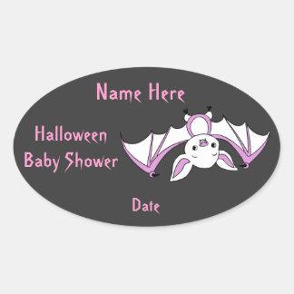 Pink Little Bat Baby Shower Stickers
