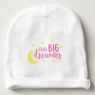 Pink Little Big Dreamer Moon and Stars Baby Beanie