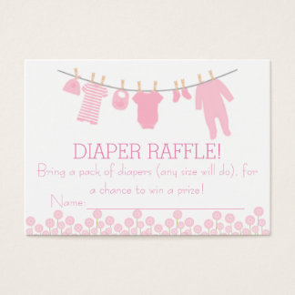 Pink Little Clothes Diaper Raffle Tickets