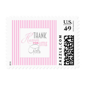 Pink Little Girl Stamp
