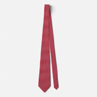 Pink Little Heart Pattern with Red Background Neck Tie
