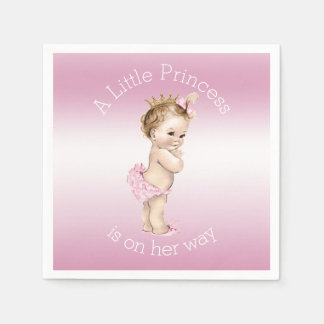 Pink Little Princess Baby Shower Napkin