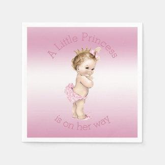 Pink Little Princess Baby Shower Paper Napkin