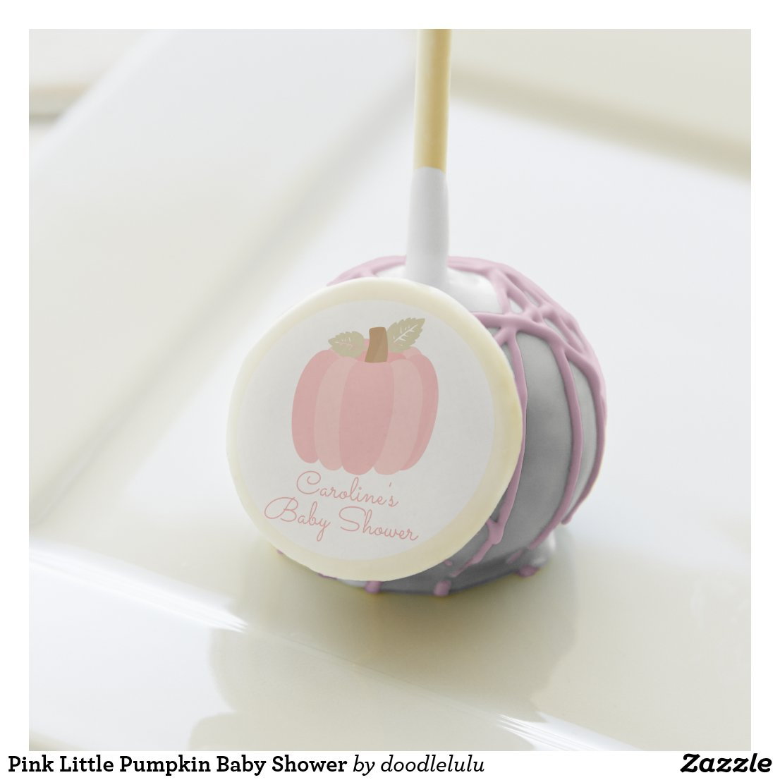 Pink Little Pumpkin Baby Shower Cake Pops