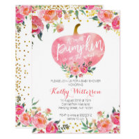 Pink little pumpkin invitation
