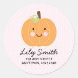 Pink Little Pumpkin Return Address Labels