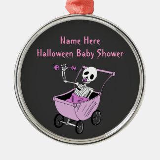 Pink Little Skeleton Baby Shower Keepsake Ornament