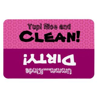 Pink Little Stars Clean Dirty Dishwasher W1418 Rectangular Photo Magnet