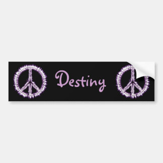 Pink Live Electric Energy Peace Sign Car Bumper Sticker