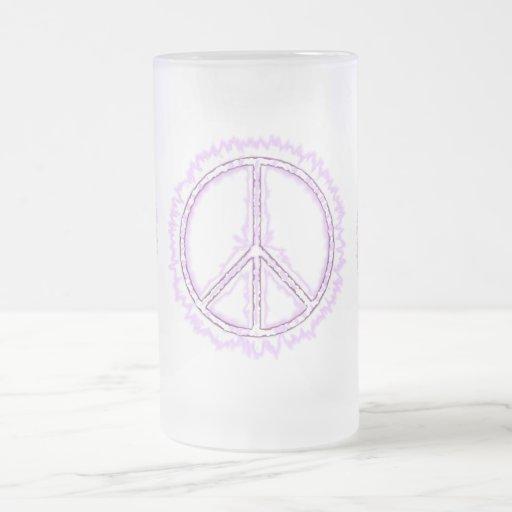 Pink Live Electric Energy Peace Sign Coffee Mug