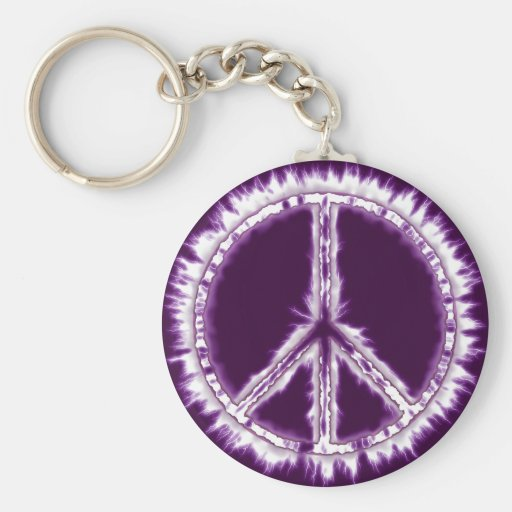 Pink Live Electric Energy Peace Sign Key Chain