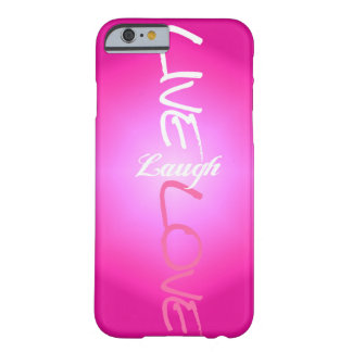 Pink Live Laugh Love iPhone 6 case