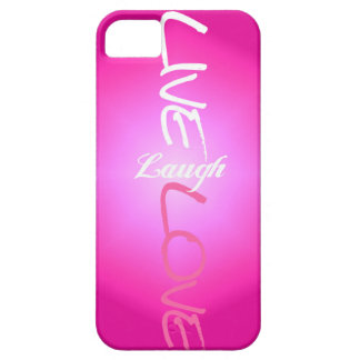 Pink Live Laugh Love iPhone Case iPhone 5 Covers