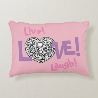 PINK Live! Laugh! LOVE! Sweetie❤ Accent Pillow