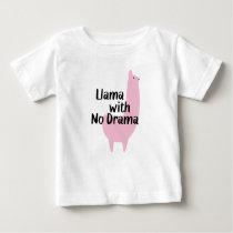 Pink Llama Baby T-Shirt