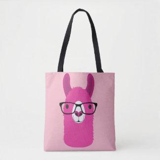 Pink Llama Canvas Tote Bag