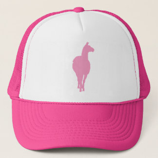 Pink Llama Silhouette (front facing) Trucker Hat