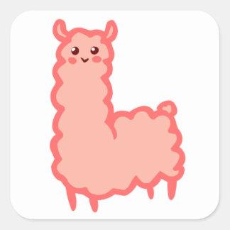 pink llama Sticker