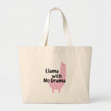 LlamaWithNoDrama Pink Llama Tote