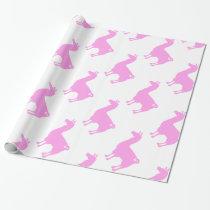 Pink Llama Wrapping Paper