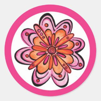 ~Pink loco del pegatina de la diversión de la
