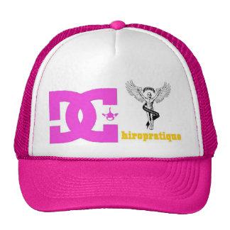 pink logo cd. trucker hat