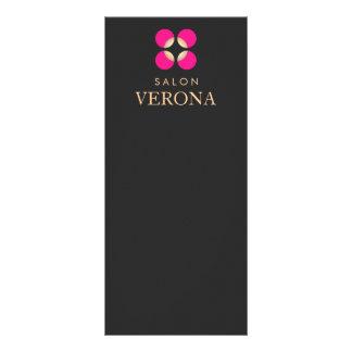 Pink Logo Makeup Artist and Beauty Salon Menu Custom Rack Card
