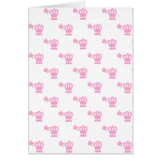 Pink Logo Pattern White BG Greeting Cards