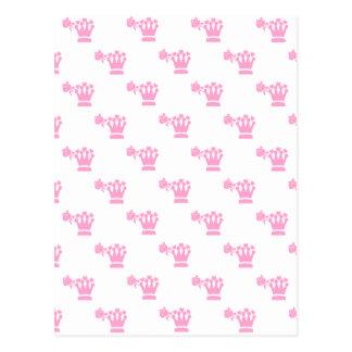 Pink Logo Pattern White BG Postcards