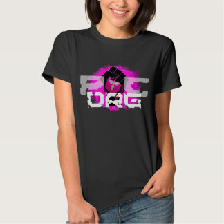 Pink Logo T-Shirt: Women's Black Tee Shirts