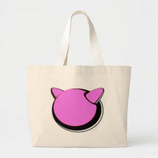 pink logo tote bag