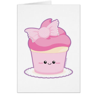 Pink Lolita Cupcake Card