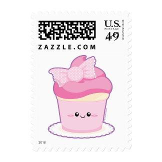 Pink Lolita Cupcake Postage Stamp
