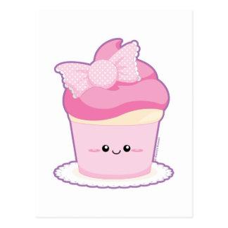 Pink Lolita Cupcake Postcard