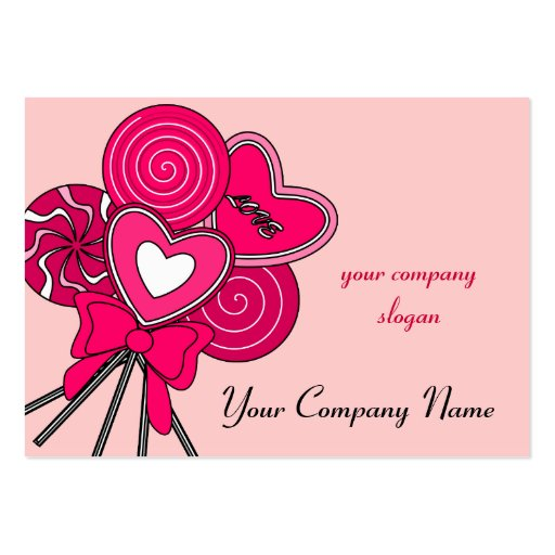 Pink Lollipop Candy Shop Bakery Business Card Business Cards