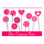 Pink Lollipop Candy Shop Bakery Business Card Business Card