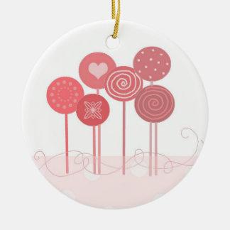 Pink Lollipops Christmas Tree Ornaments