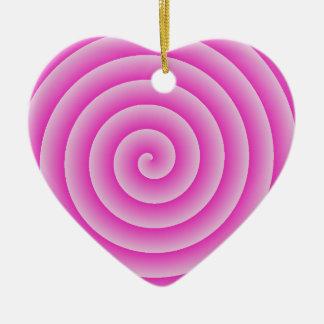 Pink Lollypop Ceramic Ornament