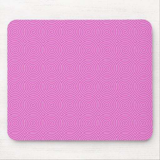 Pink Lollypop Pattern Mouse Pad