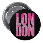 Pink London 3 Inch Round Button