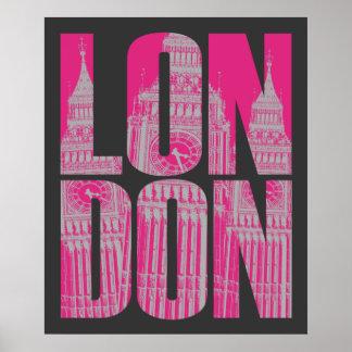 Pink London Poster