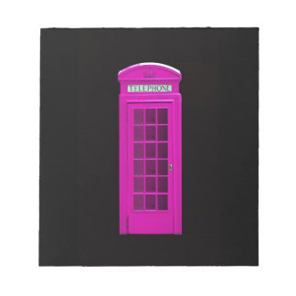 Pink London telephone box Note Pad